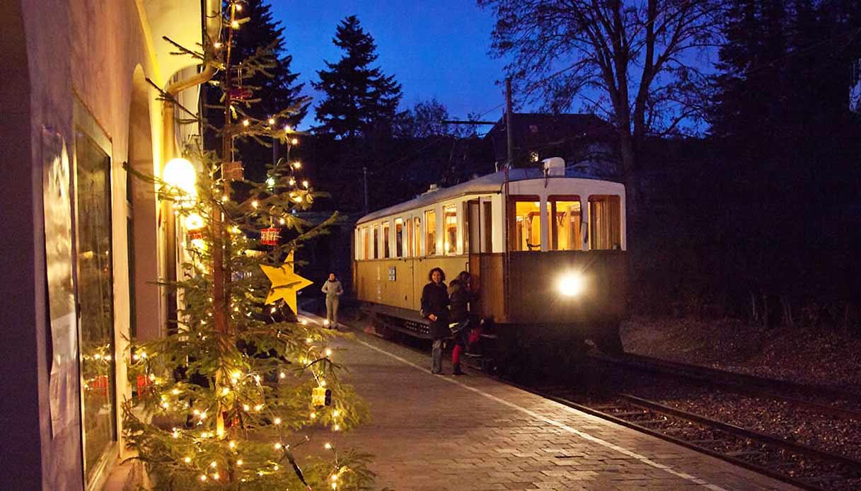 Treno di Renon Natale